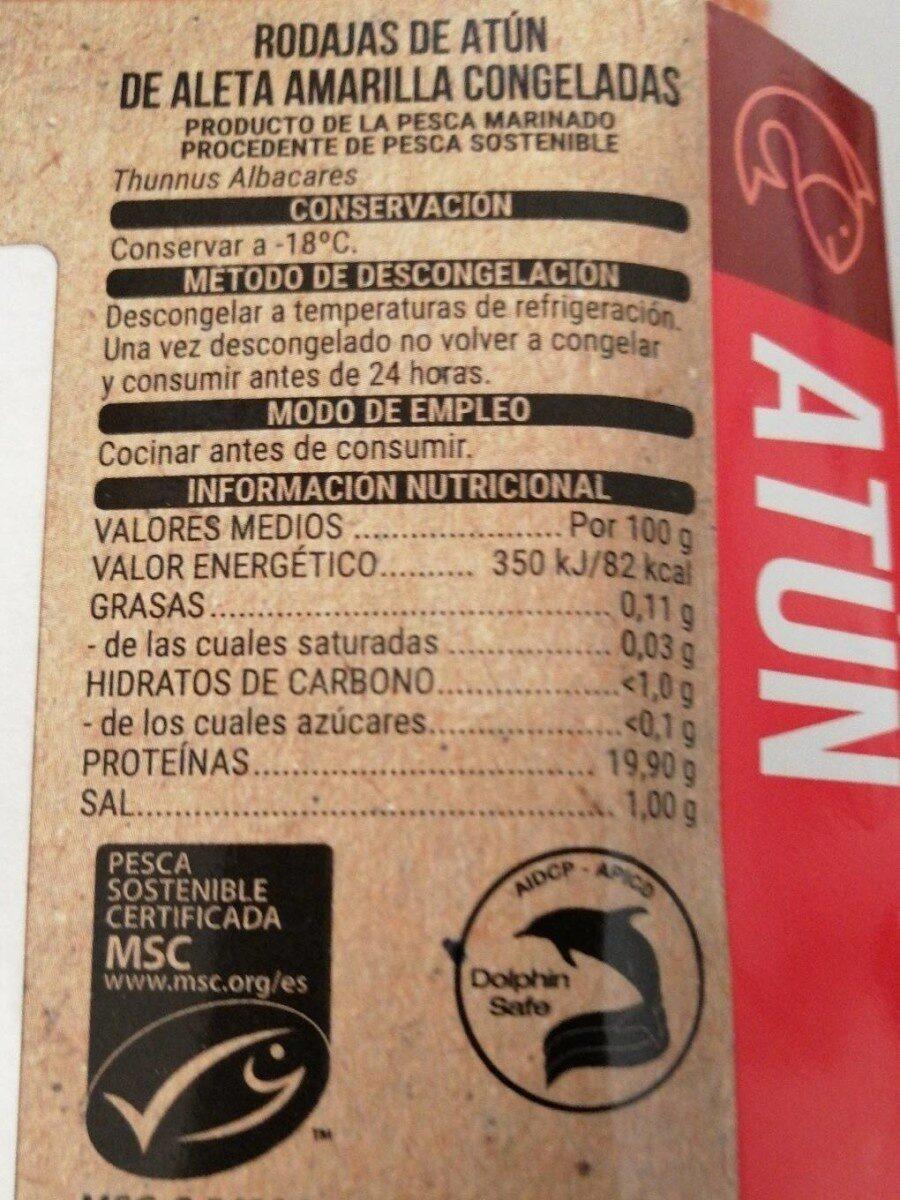 Atún - Nutrition facts - es