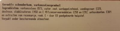 schouderham - Ingredients - nl