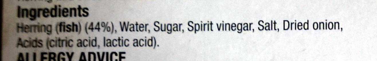 Sweet Marinated Herring - Ingredients