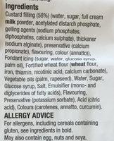 Vanilla custard slices - Ingredients - en