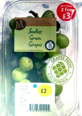 Seedless Green Grapes - Product