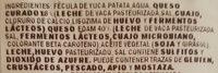 Panecillo Queso - Ingredients
