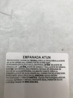 Empanada de Atun - Ingredients - es