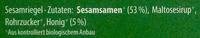 Sesam Knusperriegel & Honig - Zutaten