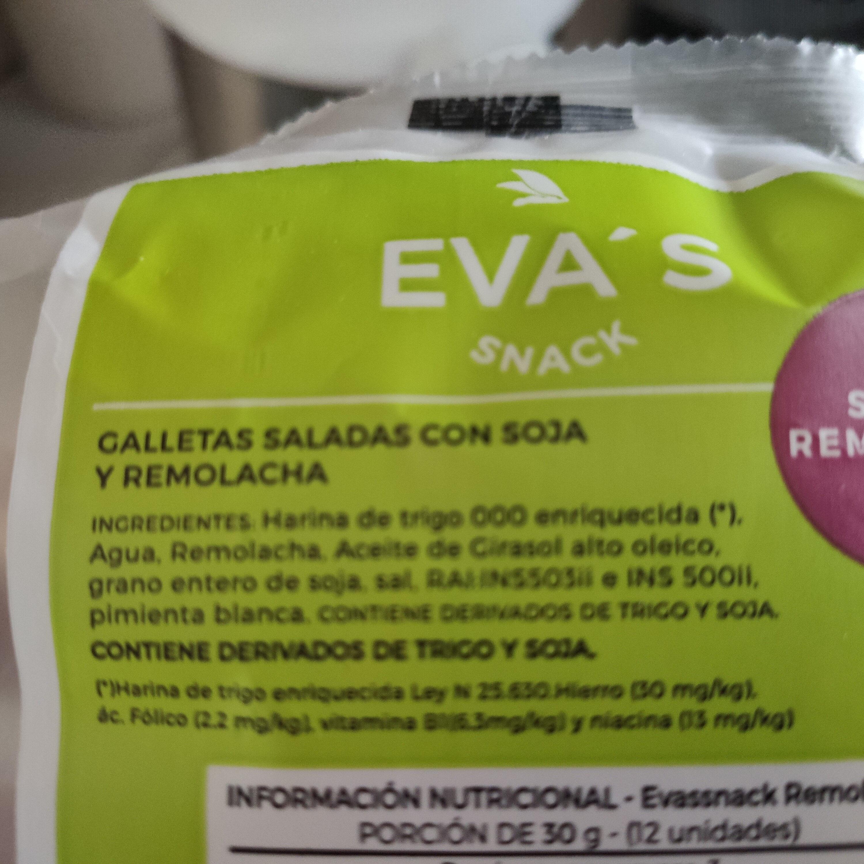 Galletas saladas con soja y remolacha - Ingredients - es