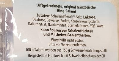 Ring Salami - Ingredients - de