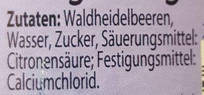 Wald-Heidelbeeren - Inhaltsstoffe