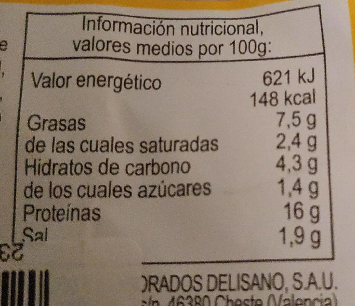 Burger Pollo - Nutrition facts