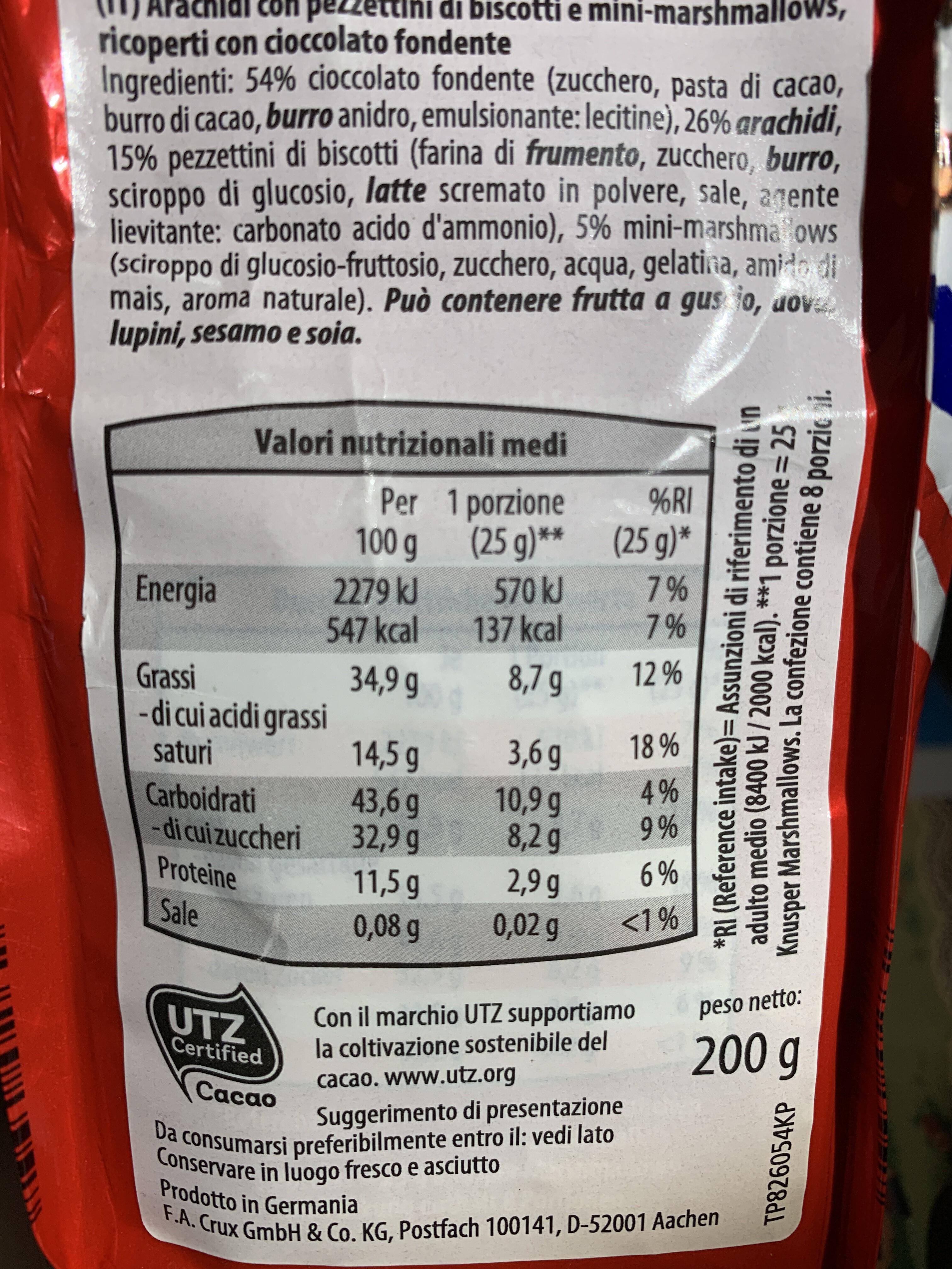 Knusper Marshmallows - Zartbitter-Keks - Nutrition facts