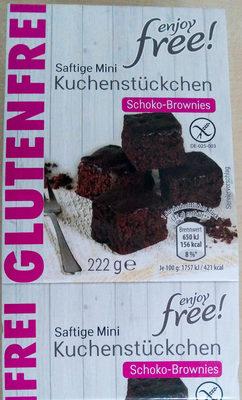 Saftige Mini Kuchenstückchen Schoko-Brownies - Product - de