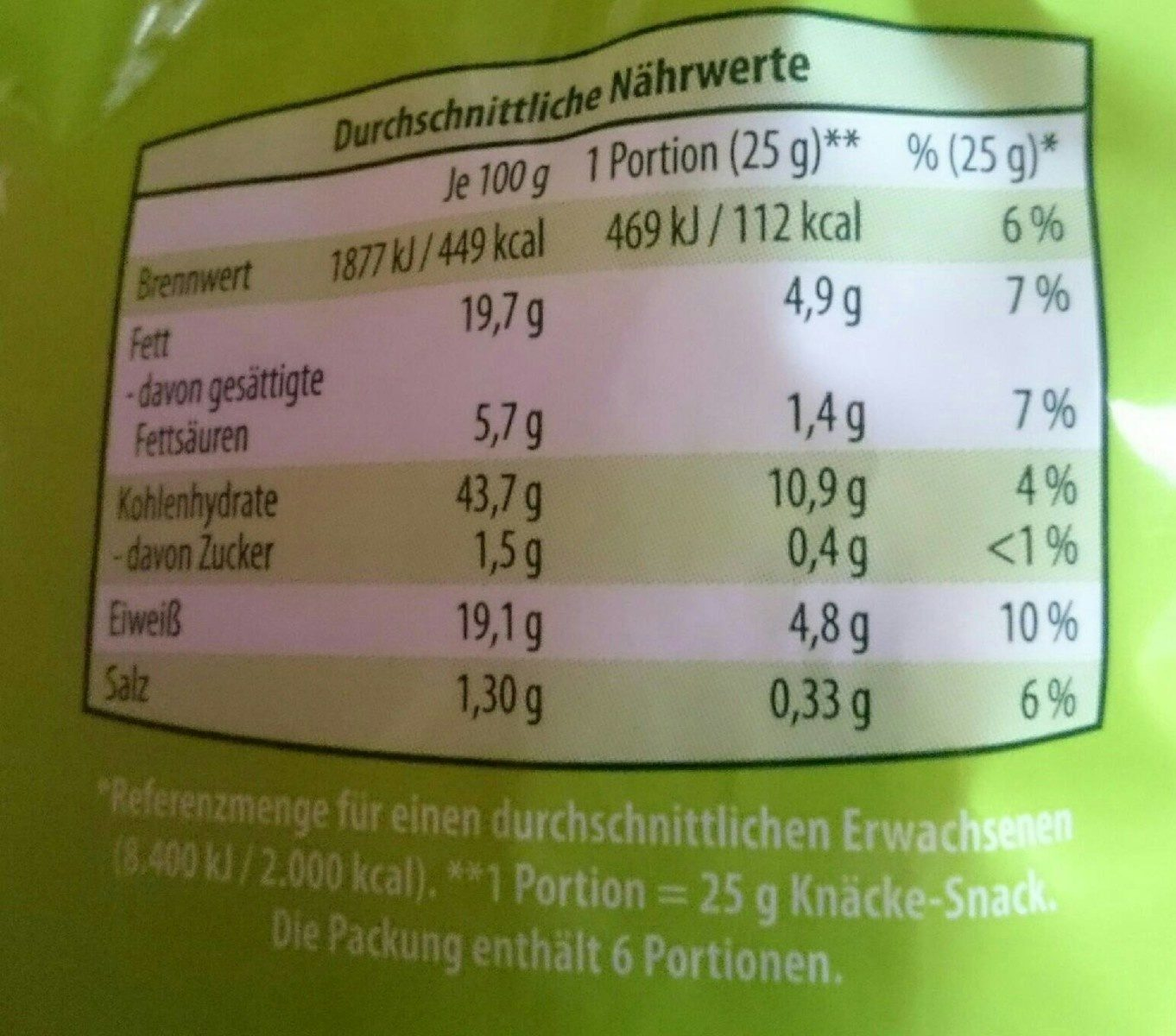 Knäcke-snack, dinkel-vollkorn-käse - Nutrition facts - de