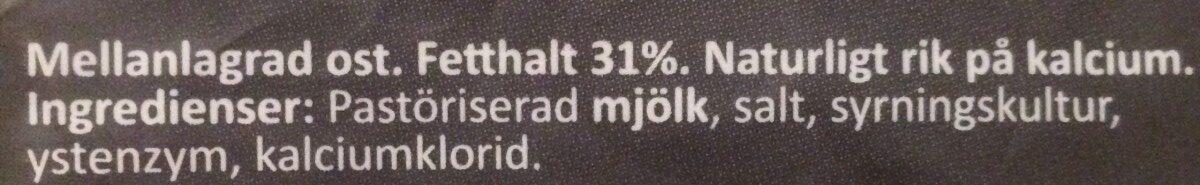 Munkens svarta - Ingrediënten - fr