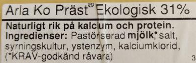 Eko Mellanlagrad - Ingrédients - sv