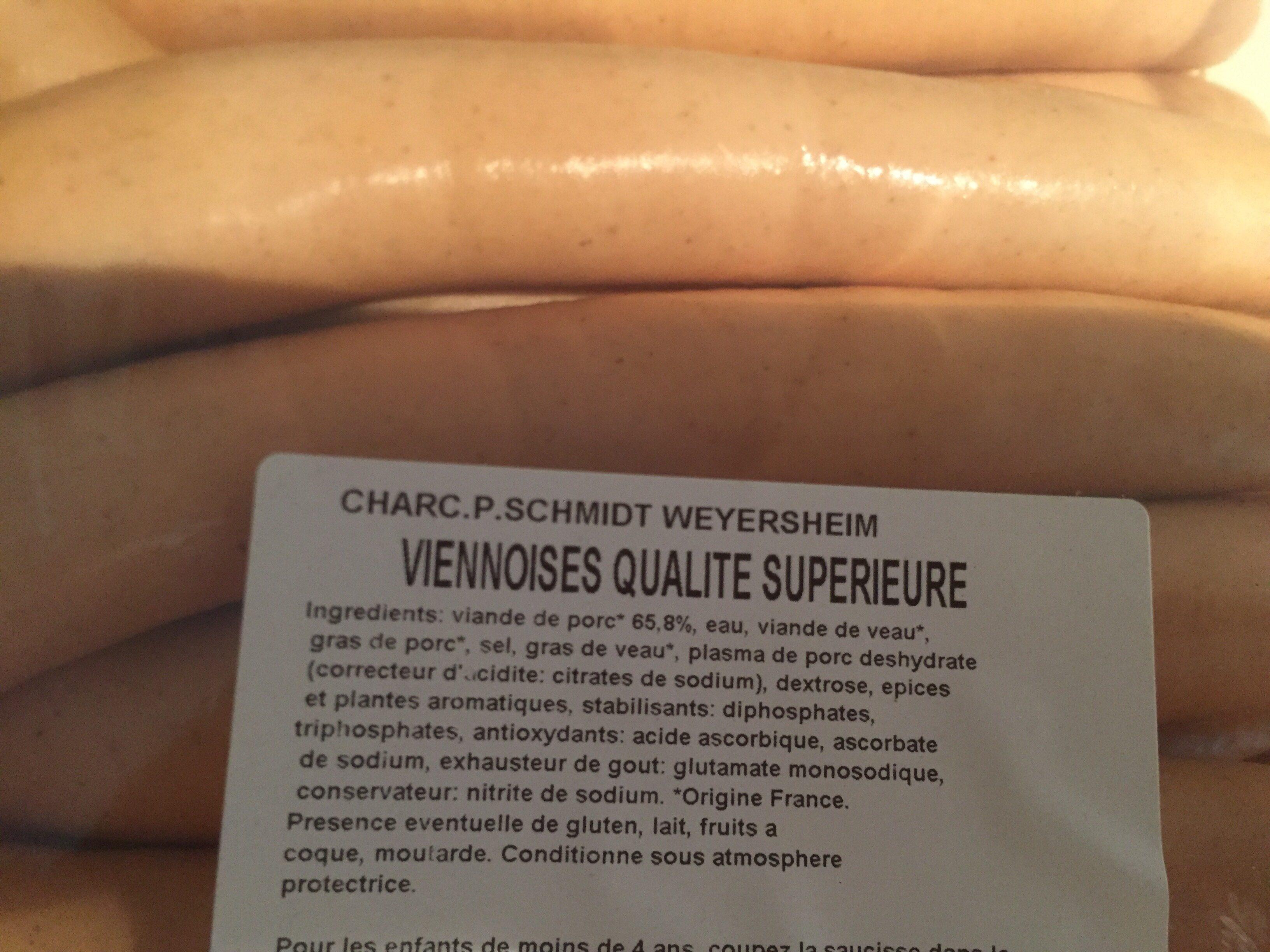 Viennoises qualite superieure - Ingrédients - fr