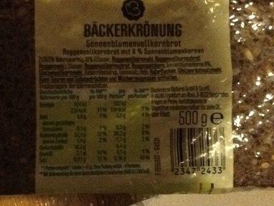 Sonnenblumenvollkornbrot - Produkt