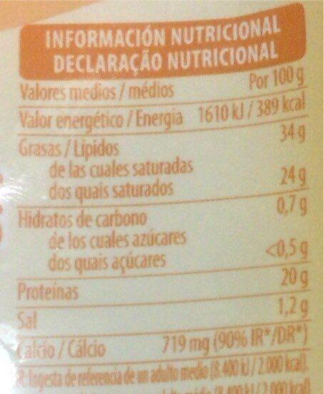 Queso de cabra en lonchas - Informació nutricional - es