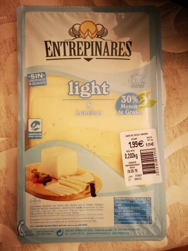 Queso Entrepinares light - Produit - es