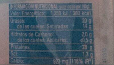 Queso Entrepinares light - Informations nutritionnelles - es