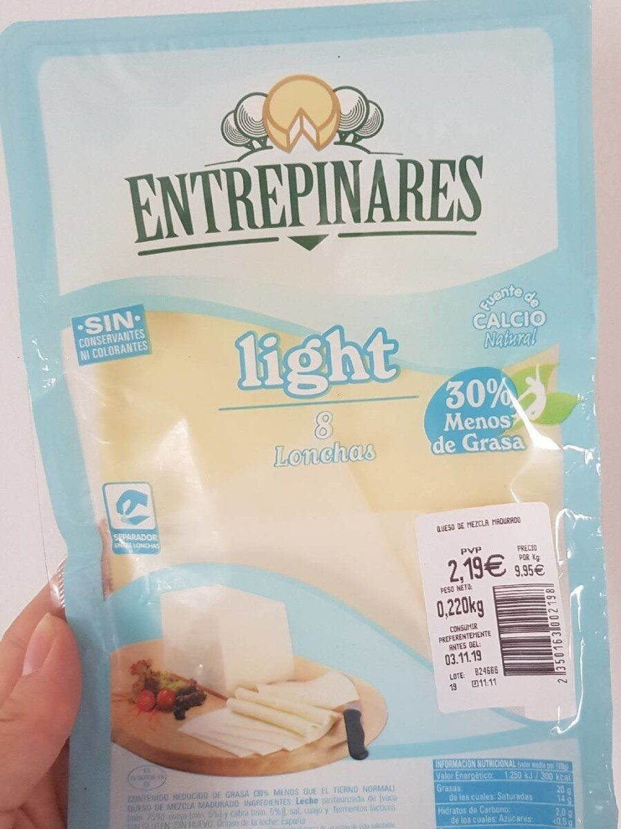 Queso lonchas light - Product