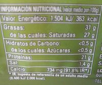 Queso de mezcla madurado - Nutrition facts