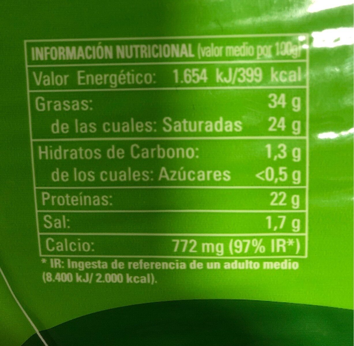 Queso Entrepinares Tierno - Nutrition facts