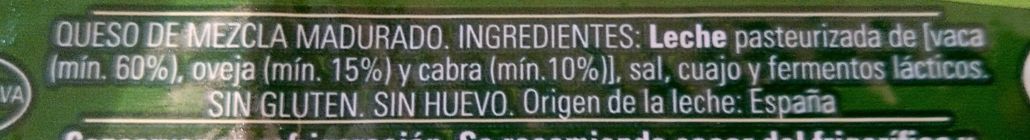 Queso tierno - Ingredients - es