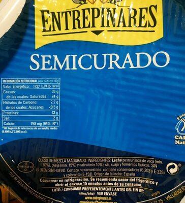 QUESO SEMICURADO - Información nutricional