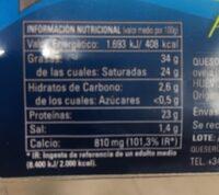Semicurado - Información nutricional