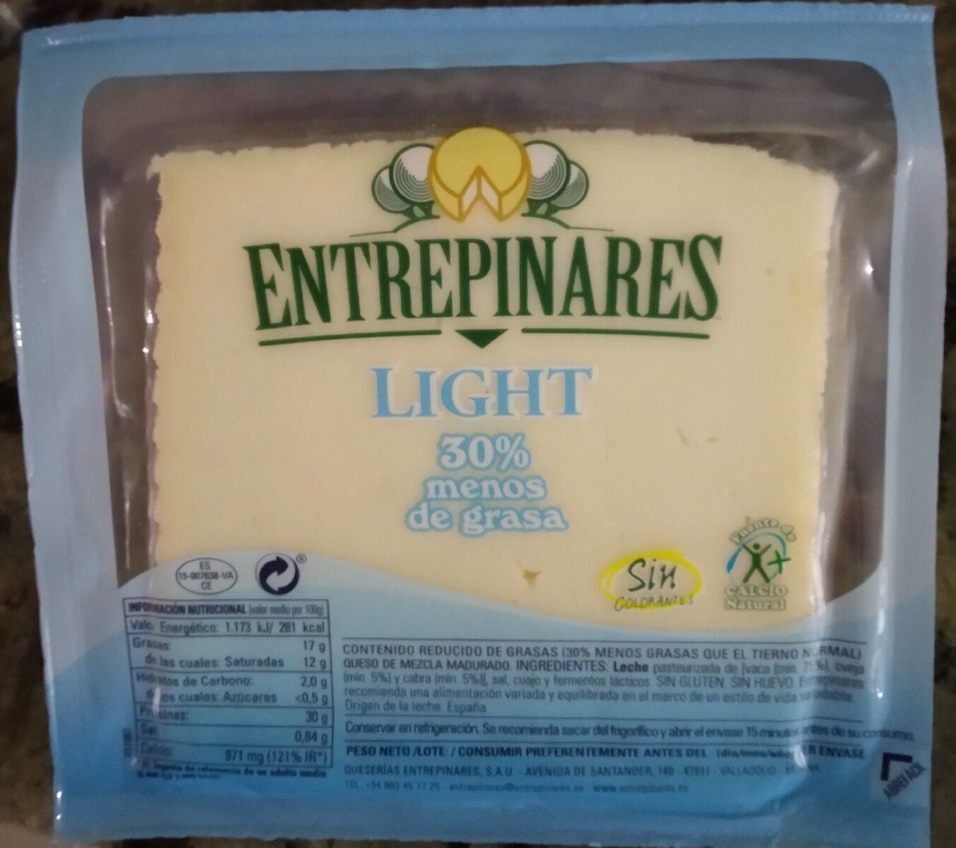 Entrepinares light - Producto