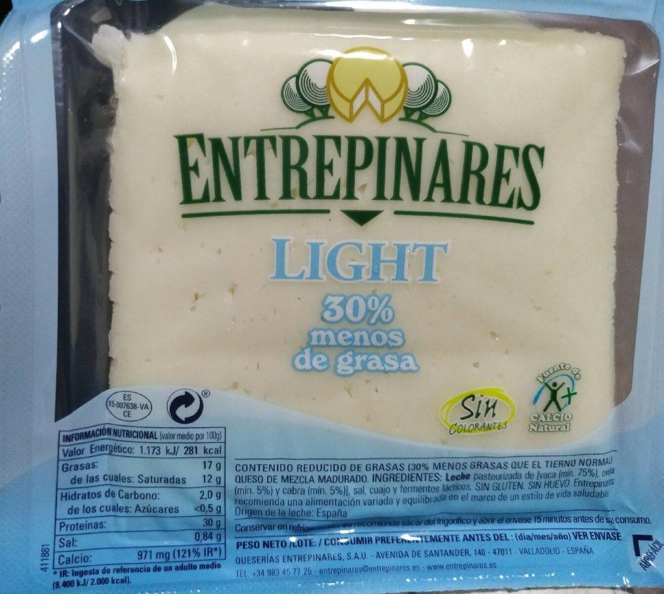 Queso de vaca, oveja y cabra light 30% menos de grasa - Produit - es