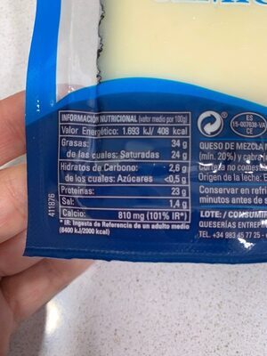 Queso Semicurado - Informació nutricional - es
