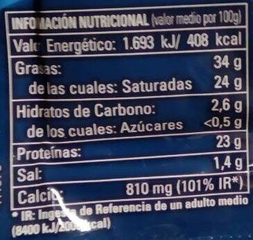 Queso Semicurado - Voedingswaarden