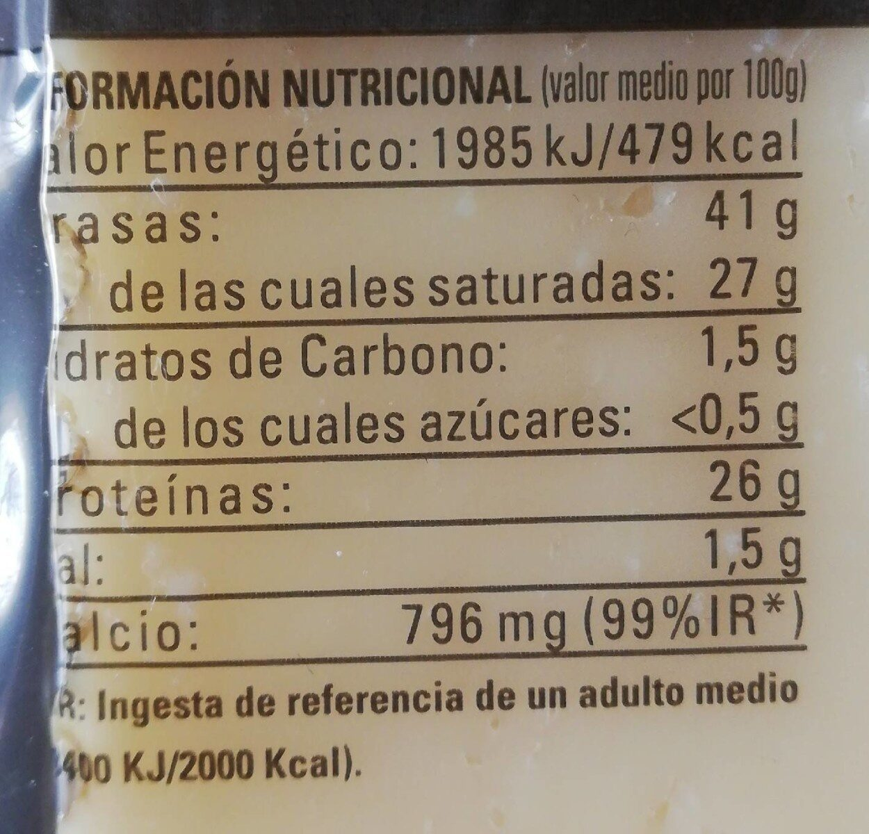 Queso Oveja Viejo - Nutrition facts - es