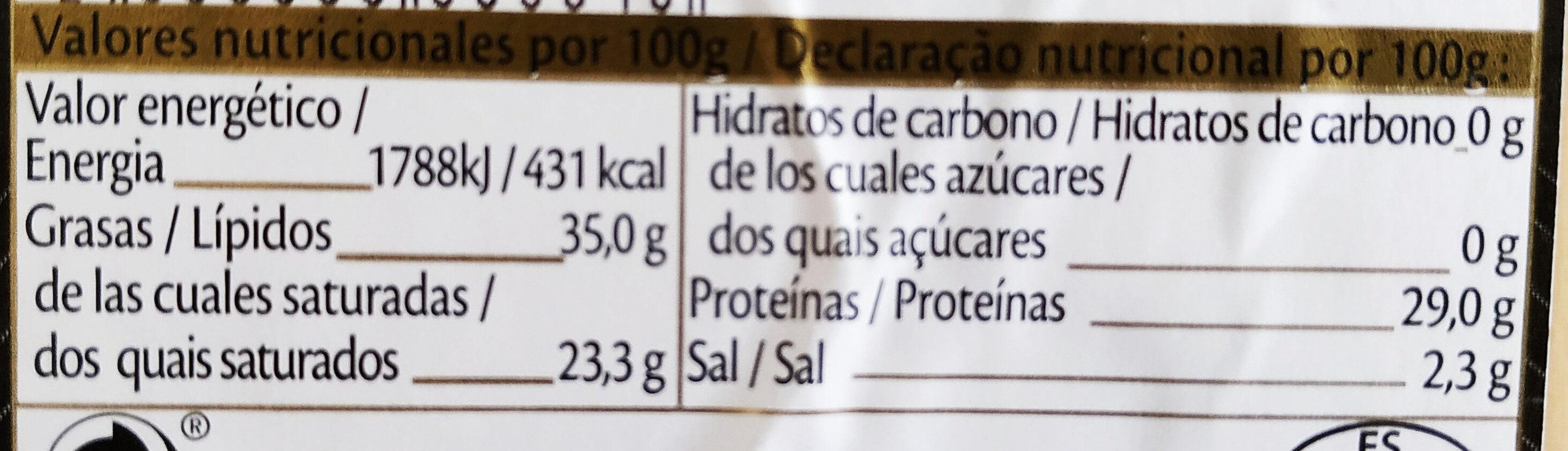Old Amsterdam - Información nutricional