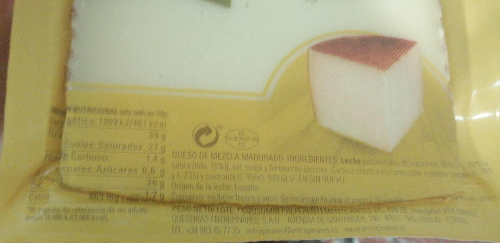 Queso viejo tostado del mercadona - Información nutricional