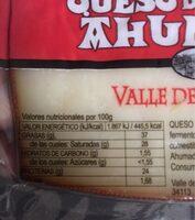 queso de oveja ahumado - Información nutricional - es