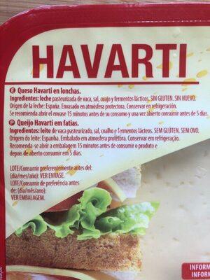 Havarti - Ingredientes - es