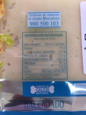 Havarti light - Informations nutritionnelles - es