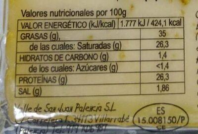 Queso añejo con aceite de oliva - Informations nutritionnelles - fr