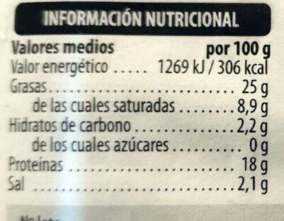 Camaiot lonchas - Valori nutrizionali - es