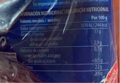 Salmón ahumado - Informació nutricional - es