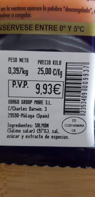 Salmón ahumado - Ingredients