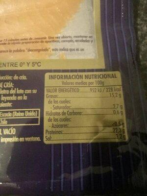 Salmon ahumado - Valori nutrizionali - es