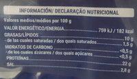 Salmón Ahumado - Valori nutrizionali - en