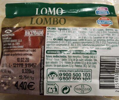 Lomo Hacendado - Nutrition facts