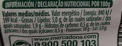 Lomo - Nutrition facts