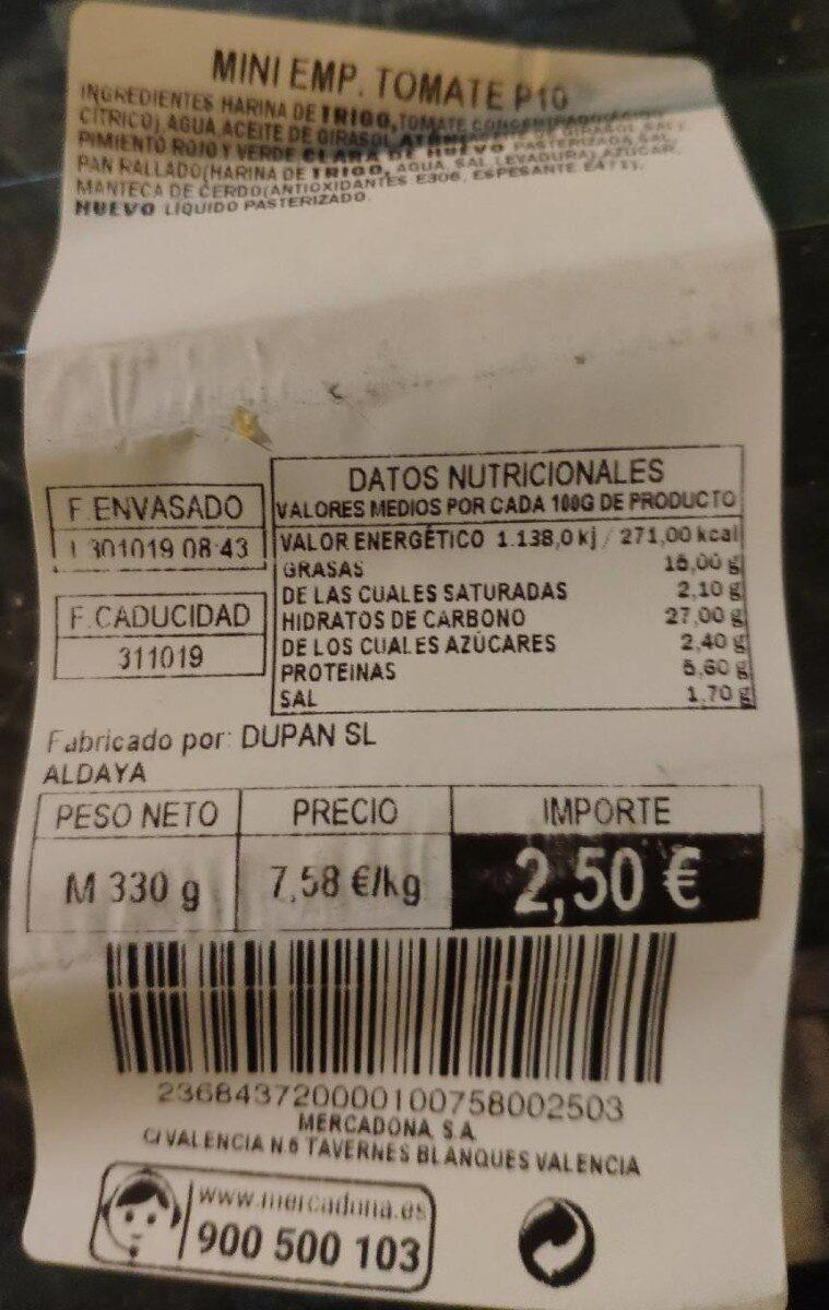 Mini empanadillas de tomate - Product