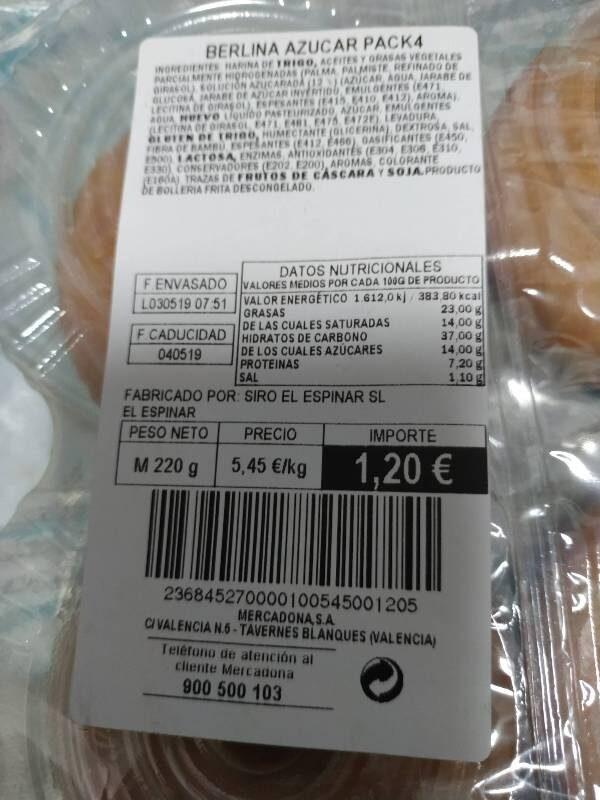 Donut Blanco - Voedigswaarden