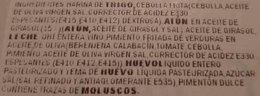 Empanada de atún - Ingredientes - es