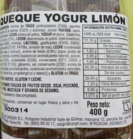 Queque yogur limón - Producto - es
